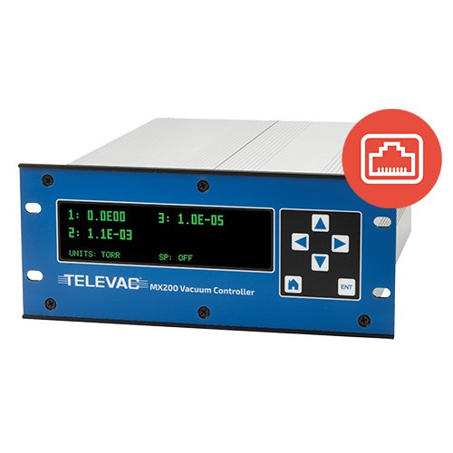 Televac MX200 EthernetIP Vacuum Controller - 1E-11 Torr to 1E4 Torr - The Fredericks Company